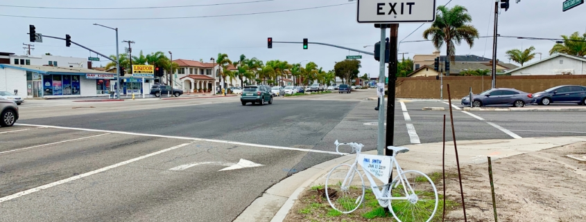 Seal Beach bike vs. car accident memorial