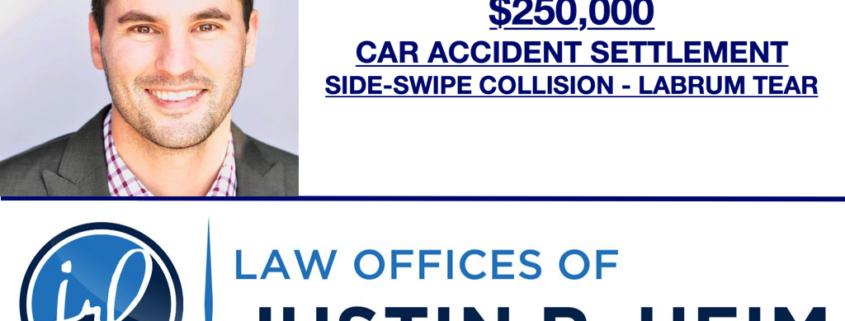 $250,000 Car Accident Settlement - Labrum Tear