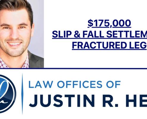 $175,000 Settlement for Slip and Fall