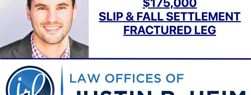$175,000 Settlement for Slip and Fall