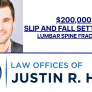 Slip and Fall Settlement for Lumbar Spine Fractures